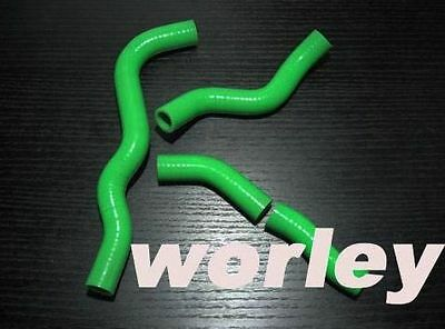 Green Silicone radiator hose for Kawasaki KLX300 1997-2007