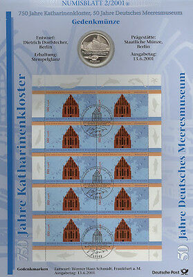 Coin Sheet 2001: Sheet 2/01 CATHERINE'S MONASTERY - 10 DM SILVER COMMEMORATIVE