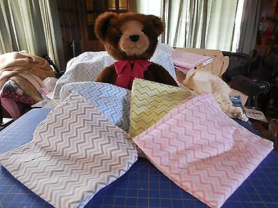Handmade Baby Receiving/Toddler Blanket! Chevrons!  Cotton Flannel Extra Large