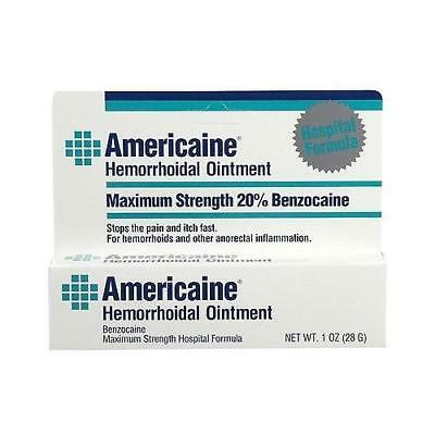 Americaine Hemorrhoidal Ointment, Maximum Strength,Stops Pain And Itch Fast 1 oz