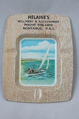 Advertising Ashtray Helaine's Millinery Montague Prince Edward Island FA