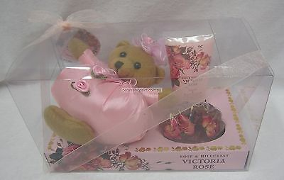 Rose & Hillcrest Victoria Rose Pack With Teddy, Body Lotion & Shower Gel BNIP