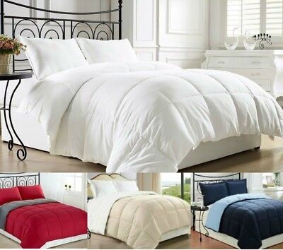 Clara Clark Goose Down Alternative Reversible Comforter - Available in all sizes