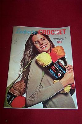 Vintage 1968 Learn to Crochet Coats & Clark's Book No. 210
