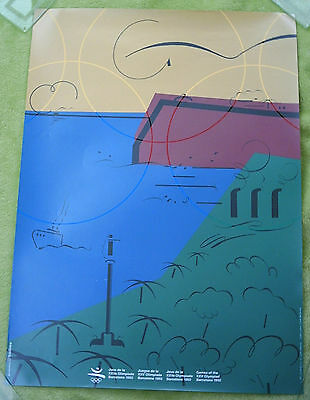 Orig.poster  Olympic Games BARCELONA 1992  -  Edt.J  // 50 x 70cm  !!  VERY RARE