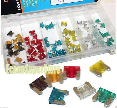240PC Low Profile Assorted Color Coded Car Fuse Trucks SUV'S Auto Fuses