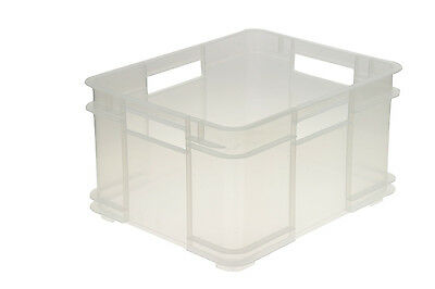 OKT Euro-Box XL 28 Liter Transparent und Blautransparent 430x350x240mm Transport