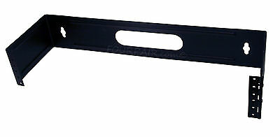 """19"""" Two Space 2U Steel Wall Mount Hinged Swing Out Patch Panel Bracket 6"""" Depth"""