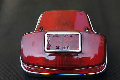VESPA Sprint/Super/Rally Chrome Rear Tail light Unit Siem Stamp