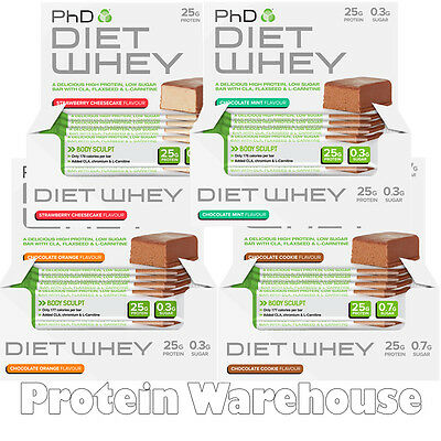 PhD Nutrition Diet Whey Bars 12 x 50g Bar Protein Bars Weight Loss Protein Bar