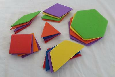 Jumbo Foam Geometric Shapes Colors Montessori K-8 Mathematics Teacher Art Crafts