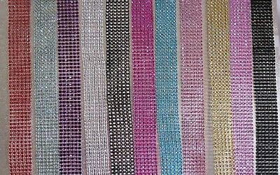 3cm (1.2inch) Multi Colors Diamante Diamond Rhinestone Mesh Ribbon Crystal Wrap