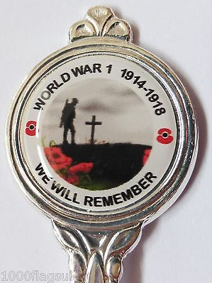 First 1st World War 1  WW1 Centenary We Will Remember Silver Plated Spoon
