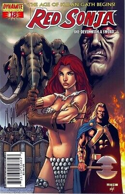 Red Sonja : She Devil WIth A Sword #18 (18C cover) Dynamite Ent bad girl comic