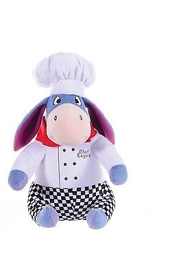 "New 12"" Disney Eeyore In Chef Outfit Plush Soft Toy Friend Of Winnie The Pooh"