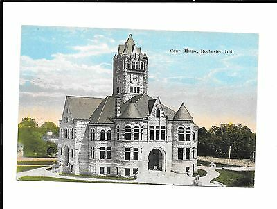 Court House Rochester Indiana Antique Postcard (Lot#A307)