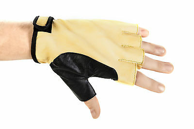 5-Fingerless Bow Hand Glove Protector / Yellow-Black Bows & Accessories