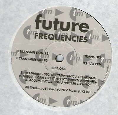 V/a Future Frequencies Dbl Lp Uk 1993 Transmission Promo Techno/hardcore/acid
