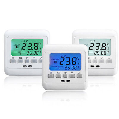 digitaler thermostat bodenf hler digital raumthermostat fu bodenheizung neu eur 14 39. Black Bedroom Furniture Sets. Home Design Ideas