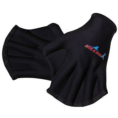 Neoprene Quick Fast Paddle Hand Training Paddle Diving Swim Surf Webbed Gloves