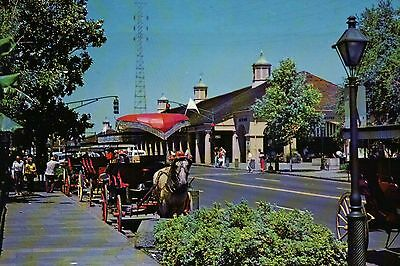 Horse Carriage near French Market, New Orleans, Louisiana, LA -- Animal Postcard