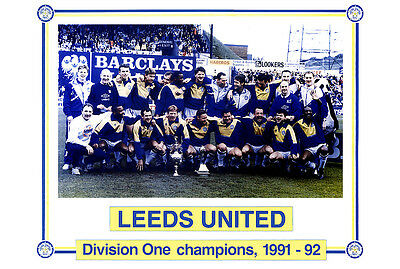 Leeds United Division One Champions 1991-92 01 Photo Print