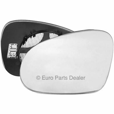 Passenger side clip on heated wing door mirror glass for VW Passat B6 2005-2010