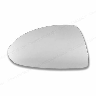 Passenger side Wing door mirror glass for Vauxhall Corsa D 06-14 Stick on convex