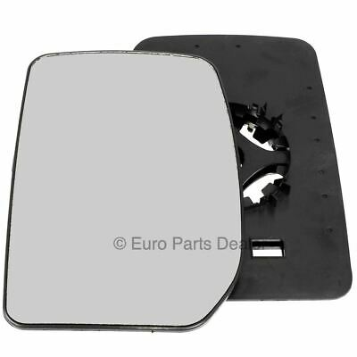 Passenger side Clip on wing door mirror glass for Ford Transit 2000-2012