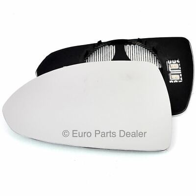 Left Passenger side Clip on heated wing mirror glass for Vauxhall Corsa D 06-14