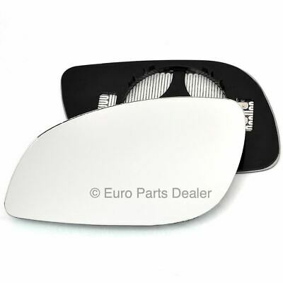 Passenger side Clip on heated wing door mirror glass for Vauxhall Vectra C 03-08
