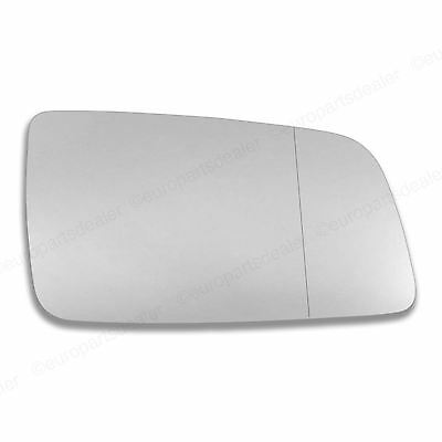 Driver side Wing door mirror glass for Vauxhall Astra G 98 Stick on wide angle