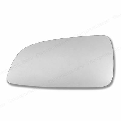 Passenger side Wing door mirror glass for Vauxhall Astra H 04-08 Stick on convex