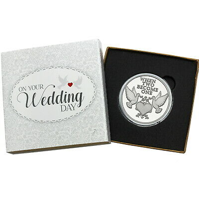 2019 When Two Become One Doves 1oz .999 Fine Silver Round by SilverTowne