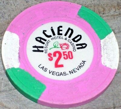 $2.50 6Th Edition Gaming Chip From The Hacienda Casino, Las Vegas Nv