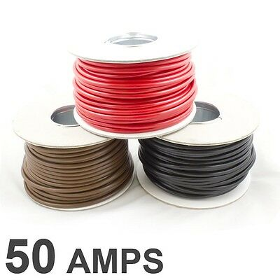 30M Roll Thin Wall 2 Twin Core Cable Wire Car LED Light *25 AMP Rated* 2mm2