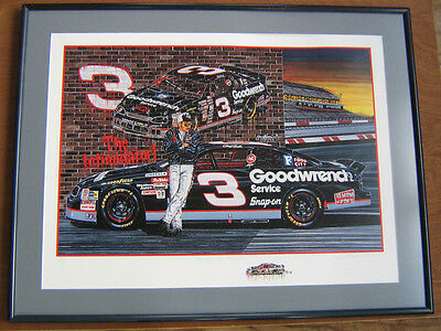 """""""Ready To Rumble!"""" Sam Bass, Artist Proof, Remarque, Dale Earnhardt"""
