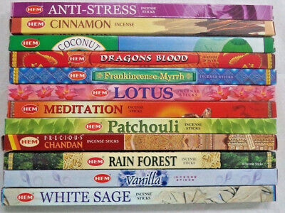HEM Incense Best Sellers #4 Sampler Set: 12 Boxes X 8 Sticks = 96 Sticks
