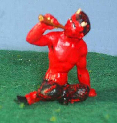 TOY SOLDIERS TIN ANCIENT GREECE SATYR / DEVIL PLAYING FLUTE 54MM