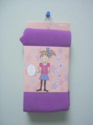 Toe Tally Soft Plush Lined Purple Quantity Tights Girls Size 4 - 6 New