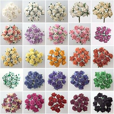 Miniature Mulberry Paper Tea Rose Flower -  Cards Favours Crafts Embellishment
