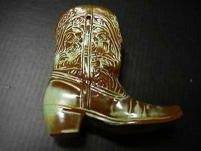 """FRANKOMA POTTERY Cowboy Boot Wall Pocket, or Vase. """"Mint Condition"""""""