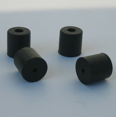 """HARDENED RUBBER BUMPERS 1"""" rise ~ feet, stops, spacers ~ Set of 40"""