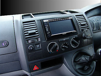 Carbon Fibre Effect Dash Trim Kit to fit VW Volkswagen T5 Transporter 2003 - 09
