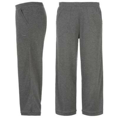 LA Gear Ladies Jogging  Bottoms 3/4 Running Gym Fitness Sweatpants Charcoal Grey
