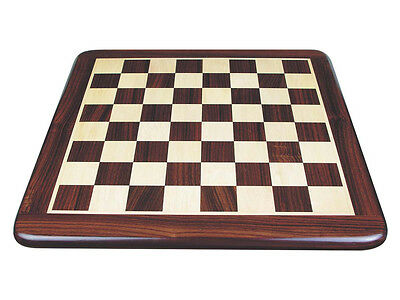 """18"""" Rosewood Flat Chess Board inlaid with Maple. Square Size 1-3/4"""""""