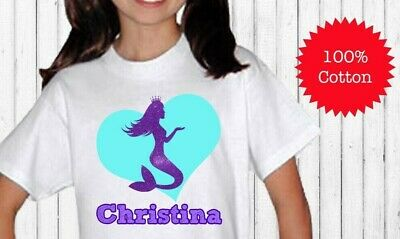 Personalized Little Mermaid Birthday Shirt For Kids 100 Cotton