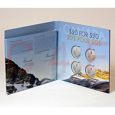 2013 - Canada Collector's $20 Coin Card Holder - Hockey Wolf Iceberg Whale Santa
