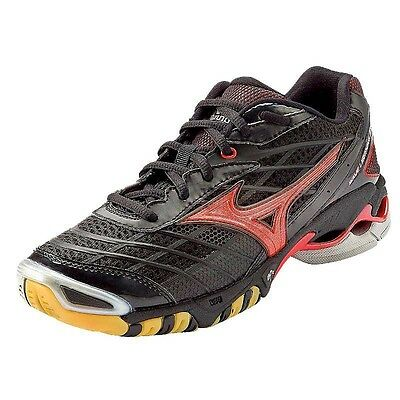 Mizuno Wave Lightning RX Women's Volleyball Shoes Black Red 430144.9010 NEW