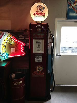 Vintage old buckeye 800f fuel gas station pump nozzle gas and oil